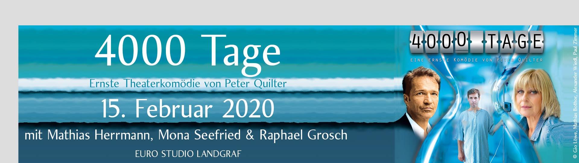 """""""4000 Tage (4000 Days)"""" – Ernste Theaterkomödie von Peter Quilter"""