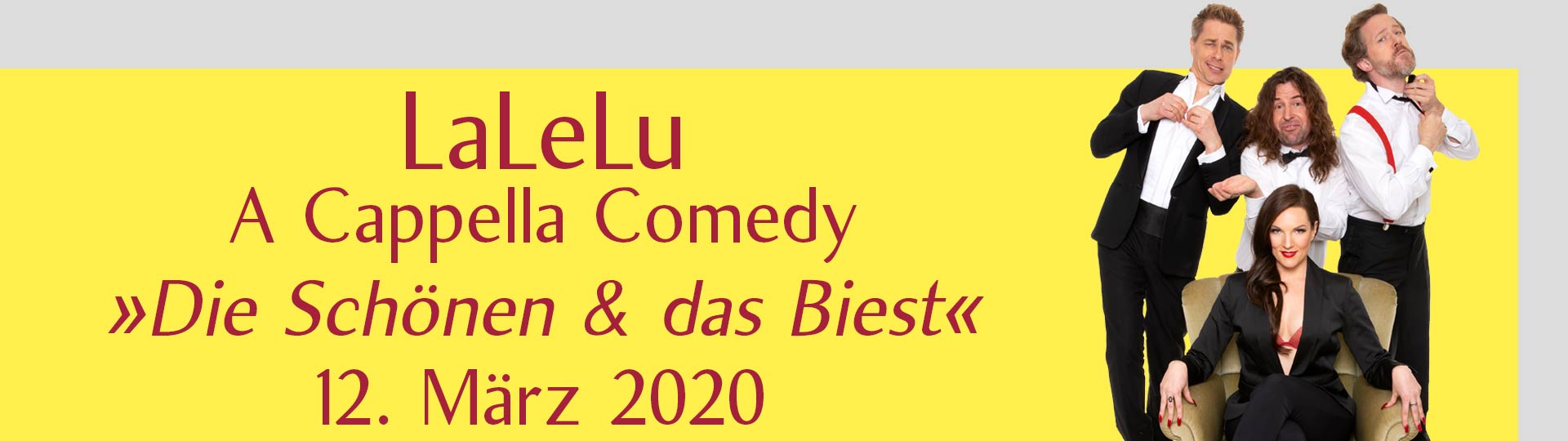 """LaLeLu A Cappella Comedy – """"Die Schönen & das Biest"""""""